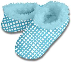 Blue cross hatch Snoozies for Women http://lynneschroeder.blogspot.com.au/2014/11/snoozies-slippers-for-mom.html