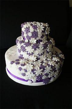 Lavender & white