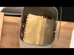 Lasagna with the Panasonic Bread Maker
