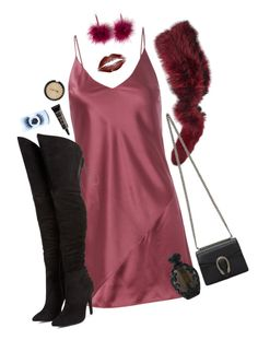 """"""":*"""" by giriboy97 ❤ liked on Polyvore featuring Fleur du Mal, Charlotte Simone, NYX, Black Magic Lashes, Gucci, ULTA and Kat Von D"""
