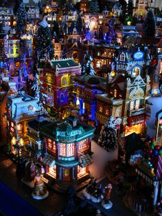 Looking inland toward the Central shopping District, 2009 Christmas Village by Mastery of Maps, via Flickr