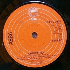 """7"""" 45RPM Chiquitita/Lovelight by Abba from Epic (S EPC 7030)"""