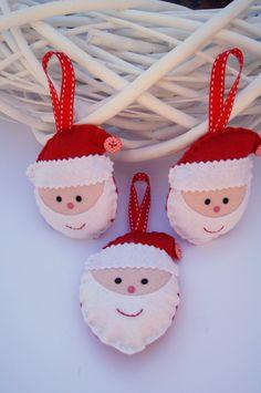 felt Santa decorations