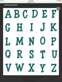 Air apparent font 1-3 inch