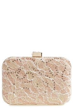 Jessica McClintock Metallic Lace Minaudiere available at #Nordstrom