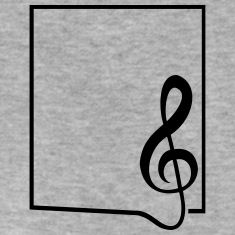 Musique Clef cadre frontière Tee shirts