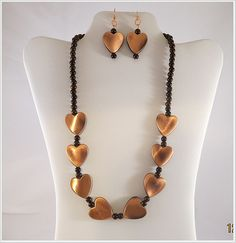 Necklace Set  Copper Heart Necklace Set by VisionsinJewelry, $25.00