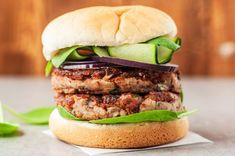 Vegan Mushroom Bean Burger Mushroom Veggie Burger Recipe (Vegan and Gluten-free) Mushroom Veggie Burger, Homemade Veggie Burgers, Best Veggie Burger, Burger Recipes, Vegetarian Recipes, Keto Recipes, Carne Picada, Mushroom Recipes, Vegan Dishes