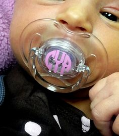 MONOGRAMMED Pacifier Decals  Set of 10 by embellishboutiquellc, $5.00