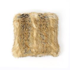 "Amber Fox Faux Fur Pillow 18"" X 18"" Pair Jenya, this is the same fur, identically  w your blanket!"
