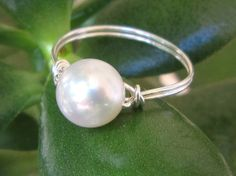 $13 sterling silver & freshwater pearl ring