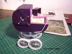 Miniature pram tutorial -- includes making the wheels (Websets by KissDesign Website)