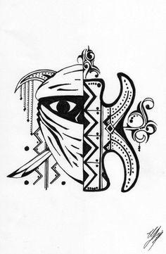 Lotus Tattoo, Barbarian, Blackwork, Mythology, Henna, Art Drawings, Alphabet, Cancer, Symbols