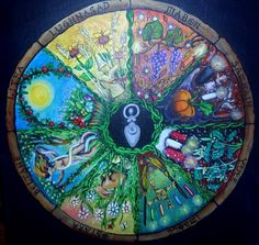 Wheel of Year by Helene Grasset.  One of the most beautiful renditions of the Wheel of the Year I've ever seen.