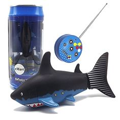 eMart Mini Remote Control Toy Electric RC Fish Boat Shark Swim in Water for Kids Gift - Black Remote Control Fish, Shark Stuffed Animal, Shark Plush, Boat Radio, Shark Gifts, Shark Swimming, Great White Shark, Fishing Boats, Pet Toys