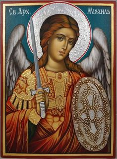 Religious Images, Religious Icons, Religious Art, Greek Icons, Archangel Raphael, Raphael Angel, Paint Icon, Angel Warrior, Russian Icons