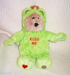 Starbucks 2004 KISS ME Green Outfit Plush Stuffed Animal Frog King Fuzzy Bear 29th Edition  $28.45  So Cute!