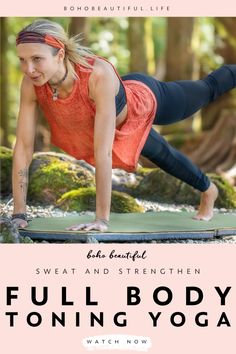This at home yoga workout flow will tone and strengthen your full body with an effective focus on your core, glutes, and arms. Beginner Yoga Workout, Workout Plan For Beginners, Yoga Workouts, Yoga For Beginners, Free Yoga Videos, Free Yoga Classes, Boho Beautiful, Beautiful Life, Fitness Workout For Women