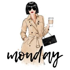 """Mi piace"": 169, commenti: 25 - @majatomljanovic su Instagram: ""Wake up, its Monday . . #monday #morning #coffee #work #illustration #fashion #fashionillustration…"""