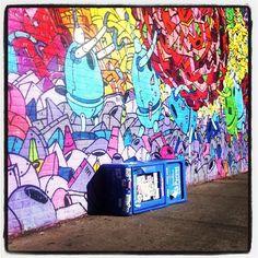 "@abenzion's photo: ""Metropolitan at Bedford #streetart #graffiti #brooklyn"""