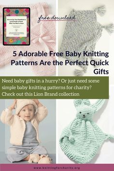5 Adorable Free Baby Knitting Patterns for the Perfect Quick Gifts - Knitting for Charity Knitting For Charity, Free Knitting, Baby Knitting Patterns, Baby Patterns, Bunny Blanket, Getting Ready For Baby, Operation Christmas Child, Free Baby Stuff, Diy For Kids
