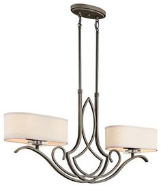 Kichler 42480OZ Chandelier Island 4Lt - transitional - Kitchen Island Lighting - Lighting Front
