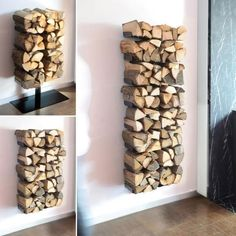 Fireplace Wood Holder Basket Diy Indoor Firewood Storage Rack Modern Ideas Wall Mounted Tools Names
