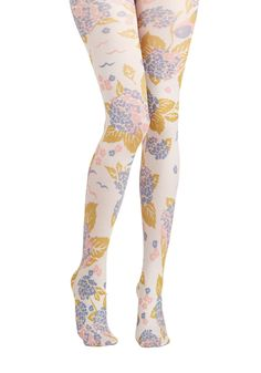 Photo Safari Tights in Meadow. Youve got your camera, a floppy hat, a khaki dress, and now thesethese multicolored tights by Blutsgeschwister for your photography adventure! #multi #modcloth