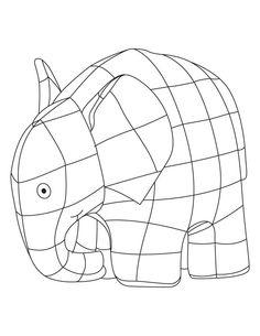 Elmer elephant coloring sheet | Download Free Elmer elephant ...