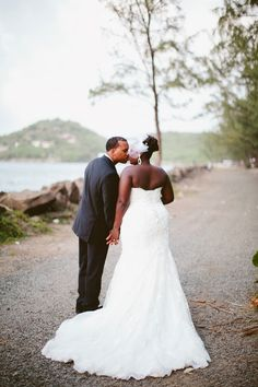 Pink and White Saint Lucia Wedding by Samantha Clarke Photography