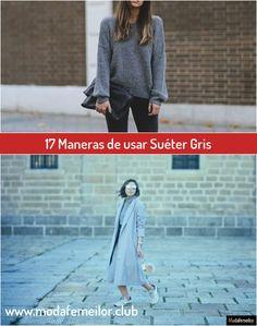 17 Maneras de usar Suéter Gris