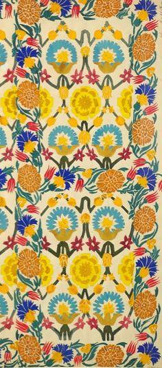 Pattern design by Leon Bakst, ca 1922.