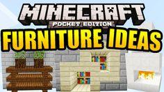 Minecraft PE Furniture Ideas (Tutorial) | Minecraft PE 0.10.0 ...
