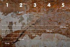 Fotobehang van oude bakstenen muur