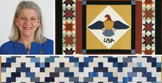 Marianne Fons, cofounder of Fons & Porter, was first drawn to Quilts of Valor® by the sheer size of this subset of quilters. Quilt Block Patterns, Pattern Blocks, Quilt Blocks, Walking Foot Quilting, Dresden Plate Quilts, Quilt Of Valor, Patriotic Quilts, Halloween Quilts, Cat Quilt
