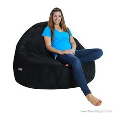 Chocolate Brown Bean Bag Chair For Adults   Soft Suede Sitsational Double  Seater Lounger