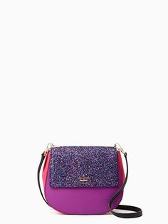"""this season, we've given our popular cameron street byrdie a """"little"""" makeover, scaling it down and adding a glittering flap. the result? a still-roomy crossbody that's festive enough for even the most special occasions (but still very wearable for day, as well)."""
