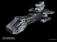 Stargate SG1 - The Prometheus. More later on this ship and its significance. #StargateSG1