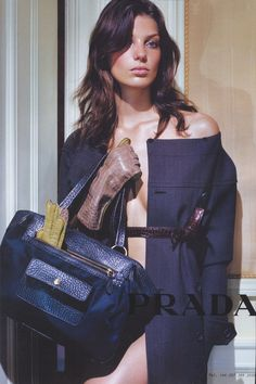Daria Werbowy, photographed by Steven Meisel, for PRADA AW03