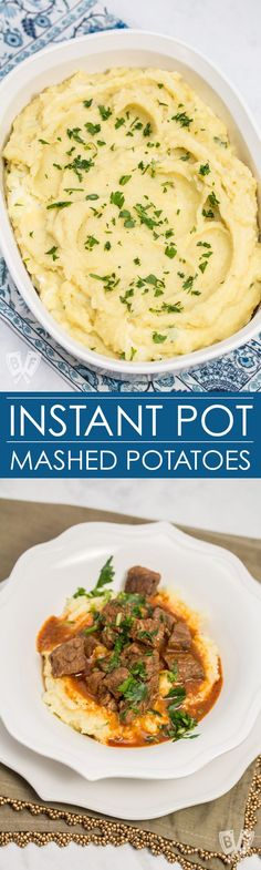I love that mashed potatoes can be made in my Instant Pot in a fraction of the time! These potatoes are super creamy and fluffy and only take 6 ingredients. These are the smoothest, most flavorful mashed potatoes ever!
