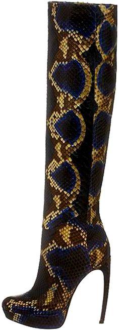 Alexander McQueen snakeskin boots