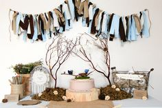 Feather Her Nest. Rustic Baby Shower.