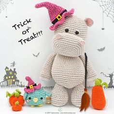 Happy Halloween!!! Pattern Free Amigurumi Hippo Melman and his friend Pi Bird. Come to know us for our facebook and website. Patrón gratis Amigurumi Hipopótamo Melman y su amigo Pi. Pasa a conocernos por nuestro facebook y sitio web. https://www.tarturumies.com https://www.facebook.com/Tarturumies/