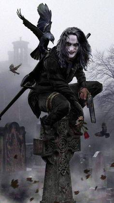 The Crow movie crow Dark Fantasy Art, Dark Art, Brandon Lee, Bruce Lee, Jason Lee, Crow Movie, Bd Art, Crow Art, Joker Wallpapers