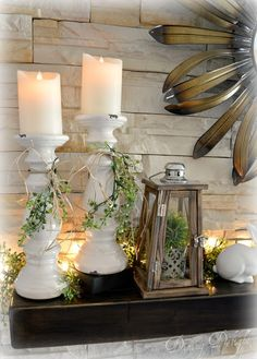 80 catchy farmhouse spring decoration catchy farmhouse spring decoration ideas - spring is coming! Spring symbolizes everything new and I also have to freshen up my spring decor. For many, the approach to spring Rustic Farmhouse, Farmhouse Style, Farmhouse Ideas, Diy Bedroom Decor, Diy Home Decor, Nursery Decor, Wall Decor, Spring Home Decor, Fireplace Mantle