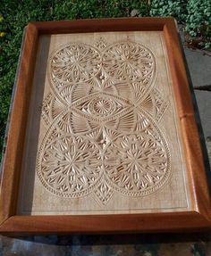 Chip Carved serving tray - Old Norwegian Pattern - by OzarkCarver ...