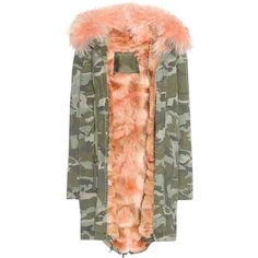 Mr & Mrs Italy Cotton Parka With Fur Lining featuring polyvore, women's fashion, clothing, outerwear, coats, multicoloured, cotton parka, red parkas, fur lining coat, red coat and colorful coat