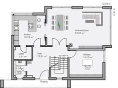 Küche flexibel offen oder zu Grundriss EG Vettel