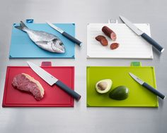 The lovely team from Joseph Joseph are giving one of you the chance to win a colour-coded chopping board and knife set worth Joseph Joseph Chopping Board, Cooking Knife Set, Fish Knife, Chopping Board Set, Stainless Steel Kitchen, Knife Sets, Food Preparation, Kitchen Knives, No Cook Meals