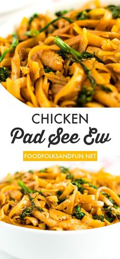 Home Made Doggy Foodstuff FAQ's And Ideas Pad See Ew Is Thai Rice Noodles With Chicken, Chinese Broccoli, And A Sweet And Savory Sauce. This Homemade Recipe Rivals Your Favorite Thai Restaurant Easy Asian Recipes, Best Chicken Recipes, Beef Recipes, Soup Recipes, Vegetarian Recipes, Healthy Recipes, Chinese Recipes, Noodle Recipes, Indian Recipes